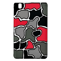 Black, Gray And Red Abstraction Samsung Galaxy Tab Pro 8 4 Hardshell Case by Valentinaart