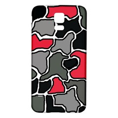 Black, gray and red abstraction Samsung Galaxy S5 Back Case (White) by Valentinaart