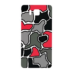 Black, Gray And Red Abstraction Samsung Galaxy Alpha Hardshell Back Case by Valentinaart