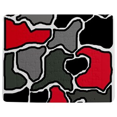 Black, Gray And Red Abstraction Jigsaw Puzzle Photo Stand (rectangular) by Valentinaart