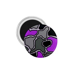 Purple And Gray Abstraction 1 75  Magnets by Valentinaart