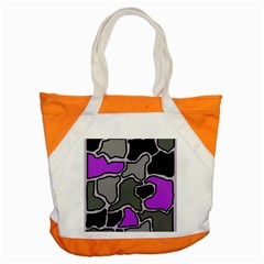 Purple And Gray Abstraction Accent Tote Bag by Valentinaart
