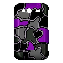 Purple and gray abstraction HTC Wildfire S A510e Hardshell Case by Valentinaart