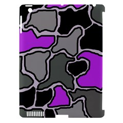 Purple And Gray Abstraction Apple Ipad 3/4 Hardshell Case (compatible With Smart Cover) by Valentinaart