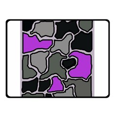 Purple And Gray Abstraction Double Sided Fleece Blanket (small)  by Valentinaart