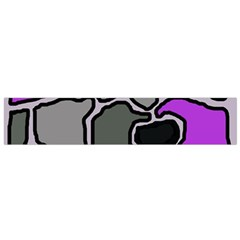 Purple And Gray Abstraction Flano Scarf (small) by Valentinaart