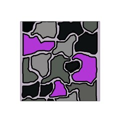 Purple And Gray Abstraction Satin Bandana Scarf by Valentinaart