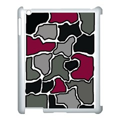 Decorative abstraction Apple iPad 3/4 Case (White) by Valentinaart