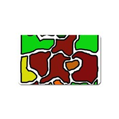 Africa abstraction Magnet (Name Card) by Valentinaart