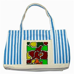 Africa Abstraction Striped Blue Tote Bag by Valentinaart
