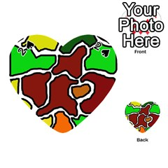Africa Abstraction Playing Cards 54 (heart)
