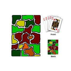 Africa Abstraction Playing Cards (mini)  by Valentinaart