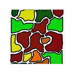 Africa Abstraction Small Satin Scarf (square) by Valentinaart