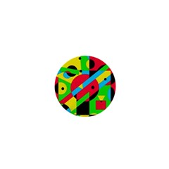 Colorful Geometrical Abstraction 1  Mini Magnets by Valentinaart