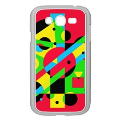 Colorful Geometrical Abstraction Samsung Galaxy Grand Duos I9082 Case (white) by Valentinaart