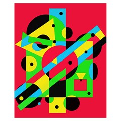 Colorful Geometrical Abstraction Drawstring Bag (small) by Valentinaart