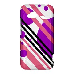 Purple lines and circles HTC Droid Incredible 4G LTE Hardshell Case by Valentinaart