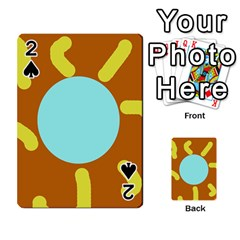 Abstract sun Playing Cards 54 Designs  by Valentinaart