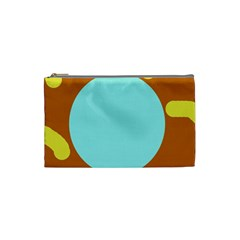 Abstract Sun Cosmetic Bag (small)  by Valentinaart