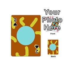 Abstract Sun Playing Cards 54 (mini)  by Valentinaart