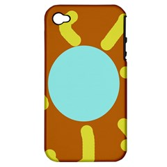 Abstract Sun Apple Iphone 4/4s Hardshell Case (pc+silicone) by Valentinaart
