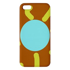 Abstract sun iPhone 5S/ SE Premium Hardshell Case by Valentinaart