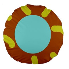 Abstract Sun Large 18  Premium Flano Round Cushions by Valentinaart