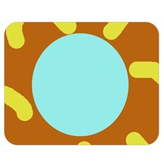 Abstract Sun Double Sided Flano Blanket (medium)  by Valentinaart