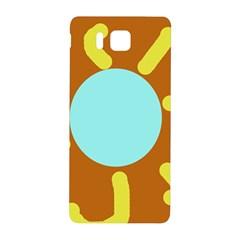 Abstract Sun Samsung Galaxy Alpha Hardshell Back Case by Valentinaart
