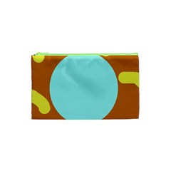 Abstract Sun Cosmetic Bag (xs) by Valentinaart