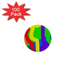 Rainbow Abstraction 1  Mini Buttons (100 Pack)  by Valentinaart