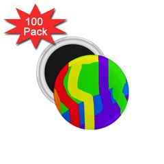 Rainbow Abstraction 1 75  Magnets (100 Pack)  by Valentinaart