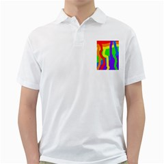 Rainbow Abstraction Golf Shirts by Valentinaart
