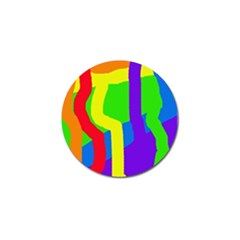 Rainbow Abstraction Golf Ball Marker (4 Pack) by Valentinaart