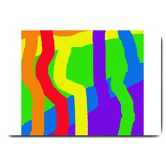 Rainbow Abstraction Large Doormat  by Valentinaart