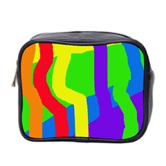 Rainbow Abstraction Mini Toiletries Bag 2 Side by Valentinaart
