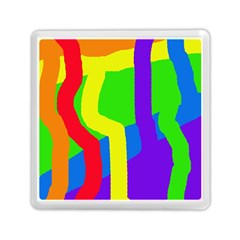Rainbow abstraction Memory Card Reader (Square)  by Valentinaart