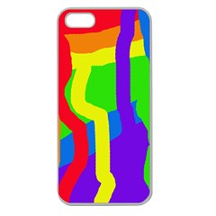 Rainbow Abstraction Apple Seamless Iphone 5 Case (clear) by Valentinaart