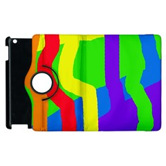 Rainbow Abstraction Apple Ipad 2 Flip 360 Case by Valentinaart