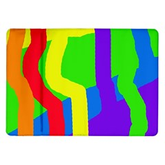 Rainbow Abstraction Samsung Galaxy Tab 10 1  P7500 Flip Case by Valentinaart