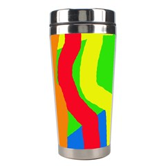 Rainbow Abstraction Stainless Steel Travel Tumblers by Valentinaart