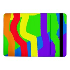 Rainbow Abstraction Samsung Galaxy Tab Pro 10 1  Flip Case by Valentinaart