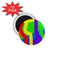 Rainbow Abstraction 1 75  Magnets (10 Pack)