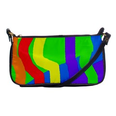 Rainbow Abstraction Shoulder Clutch Bags by Valentinaart