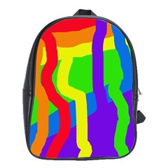 Rainbow Abstraction School Bags (xl)  by Valentinaart