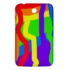 Rainbow Abstraction Samsung Galaxy Tab 3 (7 ) P3200 Hardshell Case  by Valentinaart