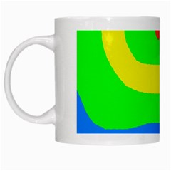 Rainbow Abstraction White Mugs by Valentinaart