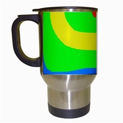 Rainbow Abstraction Travel Mugs (white) by Valentinaart