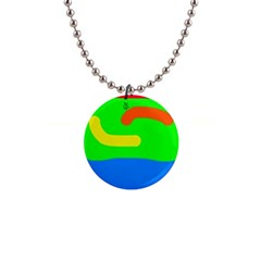 Rainbow Abstraction Button Necklaces by Valentinaart