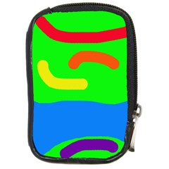 Rainbow Abstraction Compact Camera Cases by Valentinaart